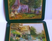 Vintage Set of 6 Jason Placemats-Country Cottages-Cork