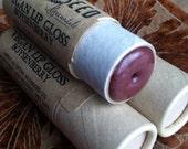 Vegan Lip Gloss - Boysenberry - Big 0.33 ounce Compostable Plastic Free Cardboard Packaging