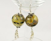 Sandstone Glass Dangle Ea...