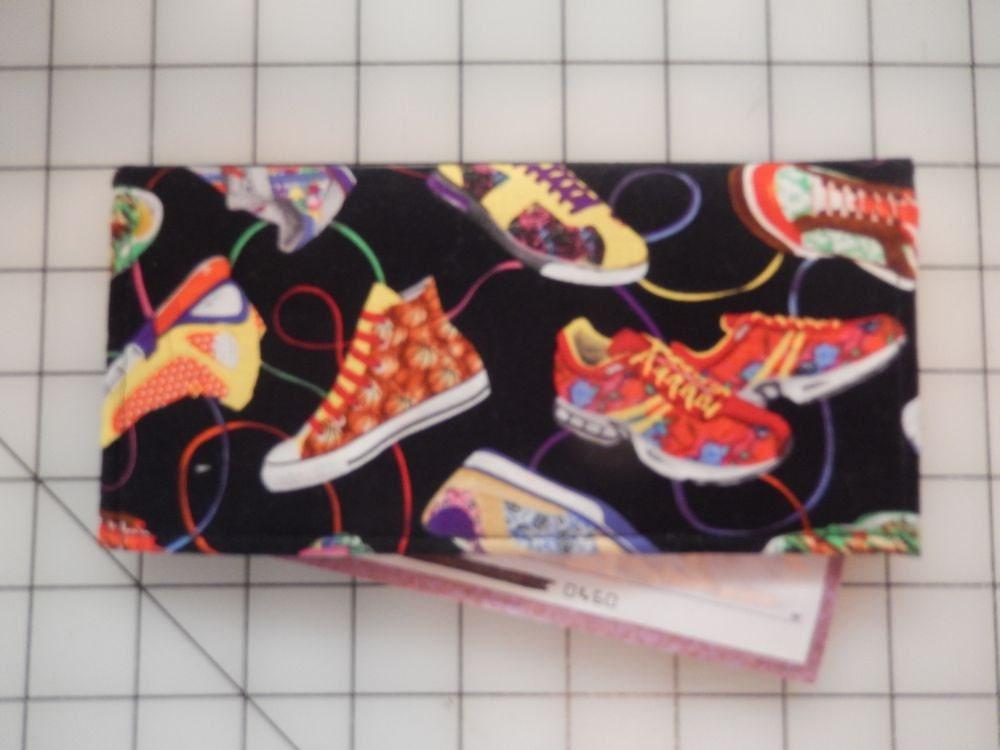 Shoe Fly Shoe Checkbook Cover Mod Retro Finance Case