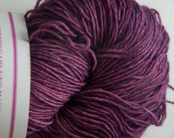 Hand-Dyed Yarn in Violet Voodoo Colourway 4ply Superwash BFL Sturdy Base