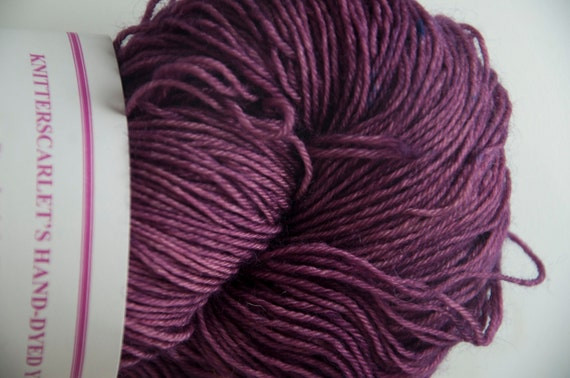 Hand-Dyed Yarn in Violet Voodoo Colourway 4ply Superwash BFL Sturdy Base