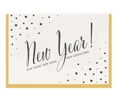 "Letterpress ""New Year"" Greeting Card"