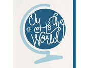 Letterpress - Oy To The World - Greeting