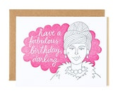 Have a Fabulous Birthday, Darling Letterpress Card//1canoe2