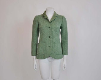 designer jacket / Vintage 1970s Courreges Fitted Riding Style Jacket