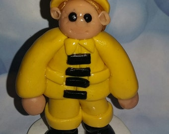 Fireman Cake Topper Figurine