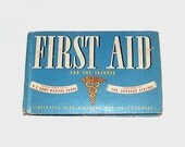 1940s vintage first aid book / 40s health book / First Aid for the Injured Medical Book