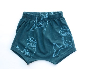 Merman screen printed shorts