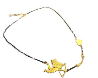 30% Fall Sale Cupid in action Necklace
