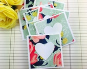 Mini Heart Cards Roses Collection Set of 9