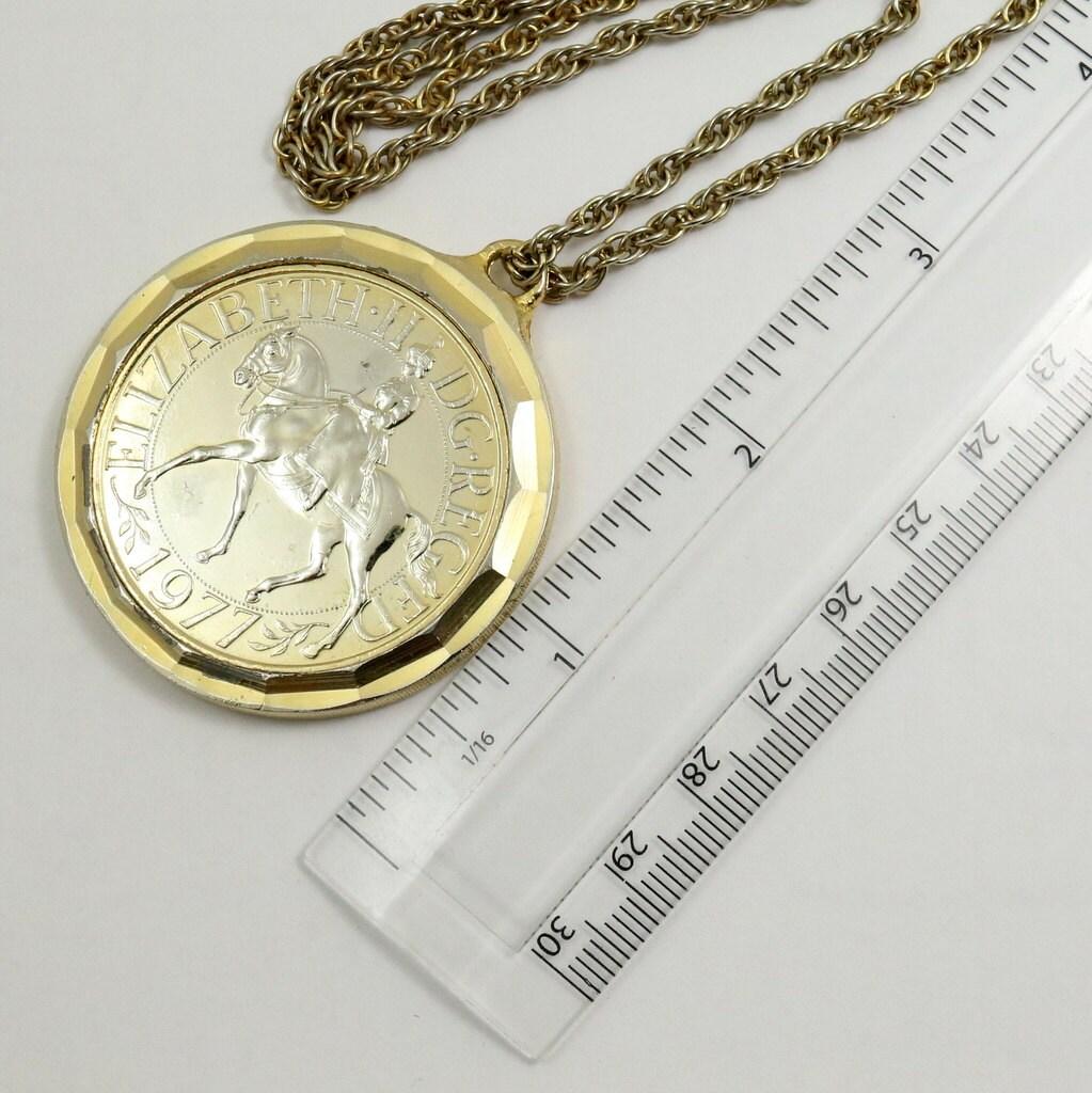 Queen Elizabeth Silver Jubilee Gold Plated 1977 Crown By