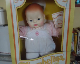 "Charming Retro 1980's Ideal Thumbelina 20"" Doll in box"