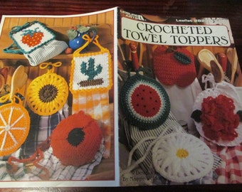 Kitchen Crocheting Patterns Crocheted Towel Toppers Leisure Arts 2823 Crochet Pattern Leaflet