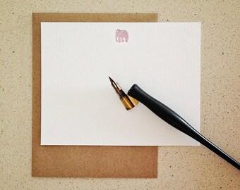 Stationery Set: Mini Elephant flat notecards