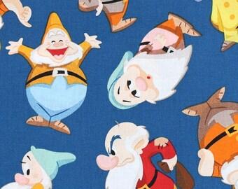 Disney Seven Dwarfs Fabric By The Yard