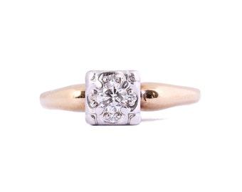 Elegant Illusion set Diamond Ring