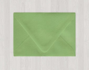 10 4Bar Envelopes - Euro Flap - A1 - Green - DIY Invitations and Response Cards - Envelopes for Weddings and Other Events