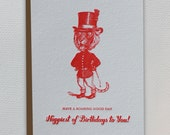 Have A Roaring Good Day Happy Birthday - Letterpress Greeting Card