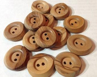 Wood Buttons Nice Grain Wooden Lot