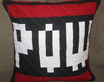 POW Quilted Pillow Cover - free USA shipping