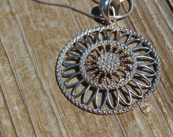 Italian Silver Pendant Necklace