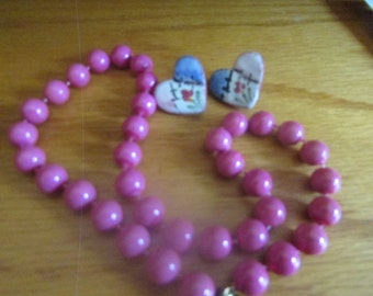 pink with hearts