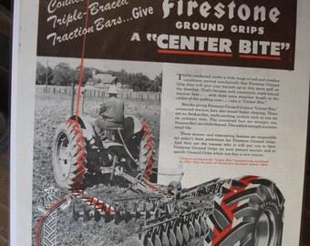 FARM 119   Firestone Put The Farm On Rubber Ad   -  April, 1946