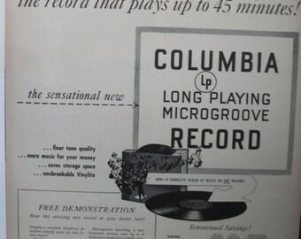 "Rad...140    ""Columbia Record""  Ad - October 1948"