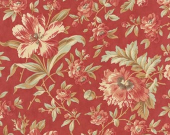 Quilting Cotton fabric   3 Sisters Larkspur   Rose Garden Blooms 44100 16