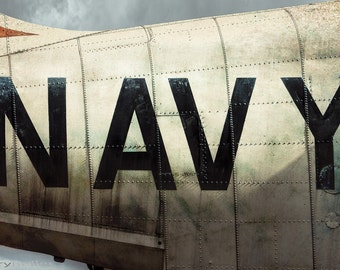 NAVY, bold letters on the side of the fuselage of The U.S. Navy Kaman K-16B Experimental VTOL Aircraft, Military Aviation, Industrial Chic