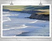 Fine Art Photography, Seascape, Fisherman, Big Sur, California, Seacoast, Seaside, Ocean Waves, Beach Art, Wall Picture, Coastal Art
