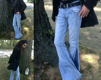 Men's Bell Bottoms Jeans Custom Made
