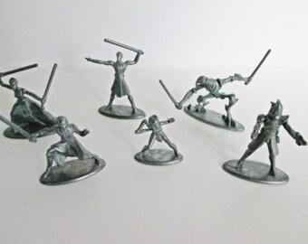 Star Wars Monopoly Game Pieces Metal Pewter Token Clone Wars Parker Bros. 6 tokens Anakin Skywalker Asajj Ventless General Grievous Obi-Wan