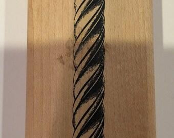 Column Wood Mount Rubber Stamp