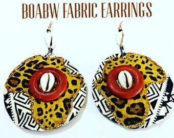 Mixed Prints Africa Earrings