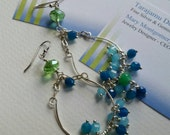 Sterling Silver Chandelier Style Mini Hoop Earrings