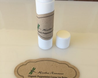Organic Lip Balm Tube Peppermint Cocoa