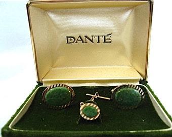 Vintage Dante Cufflinks and Tie Tack