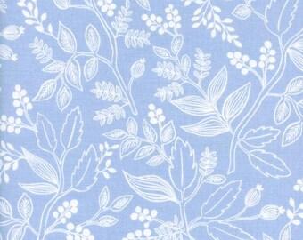 Queen Anne Pale Blue  - Les Fleurs - Anna Bond Rifle Paper Co - Cotton + Steel - 8005-01