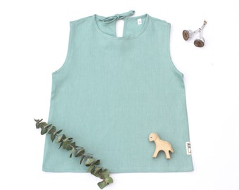 Mint kids linen top