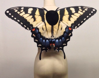 Realistic Swallowtail Butterfly Wings, Halloween Fairy Wings, Papilio Glaucus, Eastern Tiger Swallowtail