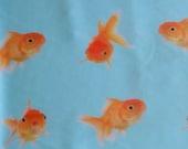 Gold Fish Nylon Spandex 4way Stretch Swim Leggings Fabric BTY
