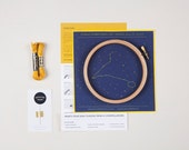 Pisces Zodiac Embroidery Kit - DIY, Constellation Embroidery Kit, Personalized Gift, Birthday Gift