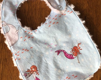Little Mermaid Minky Baby/Toddler Bib
