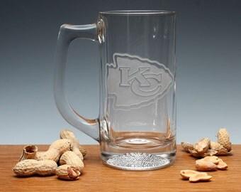 Engraved Football Beer Mug