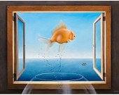 5x7 Goldfish, no mat