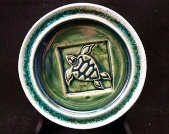 WheelWorksPottery - Wine Bottle Coaster - Green Turtle