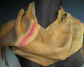 Handwoven Silk and Wool Scarf: Bollywood