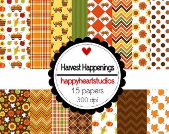 Digital Scrapbook  HarvestHappenings-INSTANT DOWNLOAD